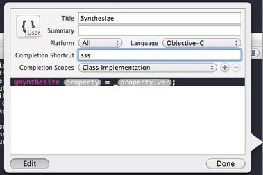 Using XCode 4 Snippets | iPhone and iPad development | Scoop.it