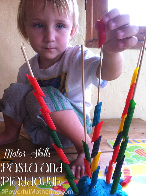 Ready for Kindergarten Book Study – Fine Motor Skills with Pasta and Play Dough | Teach Preschool | Scoop.it