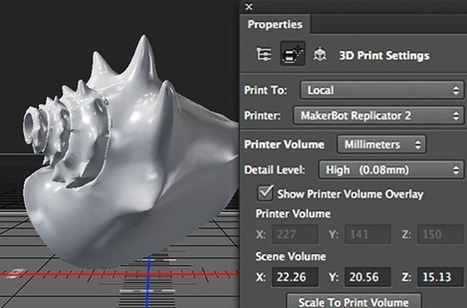 Adobe adds 3D printing tools to Photoshop CC, MakerBot and Shapeways support in tow | Replika | Scoop.it
