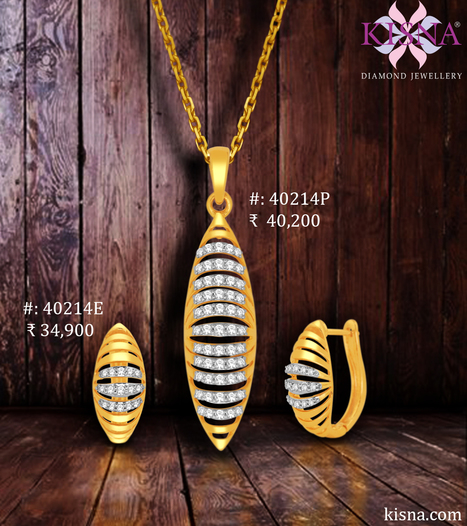 Admired And Envied By Every Woman this pendant set from Kisna is crafted with precision to suit to your both day and evening wear!   Gold Diamond Jewellery Designs   Scoop.it