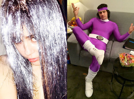 Miley Cyrus's Purple Tinsel, James Franco's Superhero Style and More Celebs ... - E! Online | Hair There and Everywhere | Scoop.it