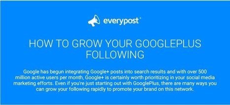 Grow your Google+ audience organically with these tips (Infographic) | e-commerce & social media | Scoop.it