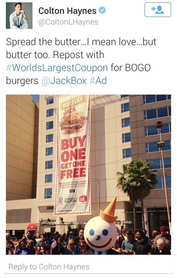 Jack in the Box turns live event into mobile coupon for enduring power | digitalNow | Scoop.it
