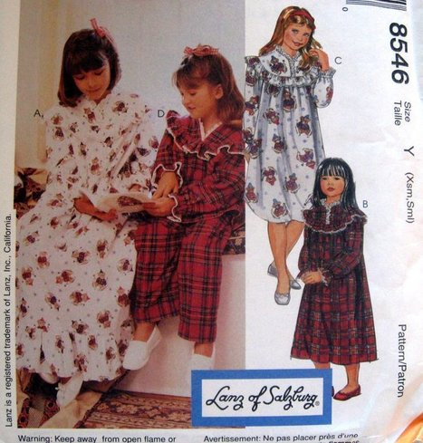 McCALLS SEWING PATTERN - 8546 GIRLS xs-small - GOWN SHORT OR LONG | Life@ Gingham Country | Scoop.it