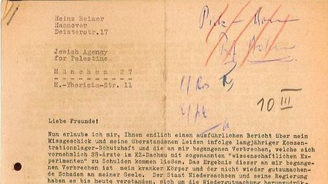 Harrowing details of Nazi medical experiments emerge in Holocaust survivor's account - Jewish World News | Jewish Education Around the World | Scoop.it