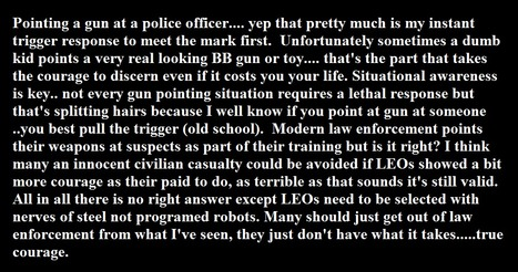LEOs it takes true courage.......  you are not programed robots. | Criminal Justice in America | Scoop.it