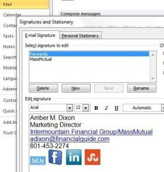 Quick Tip: Add Social Networking Icons to Email | Miscellaneous Blogs, Articles, and Stories | Scoop.it