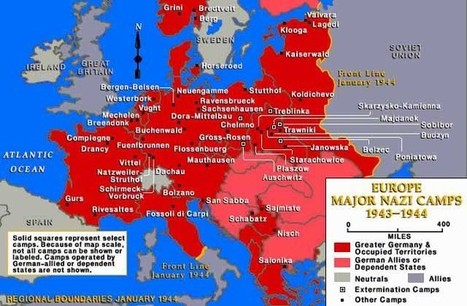 Nazi Camps in Occupied Europe 1943-1944 - Map | Holocaust Research | Scoop.it