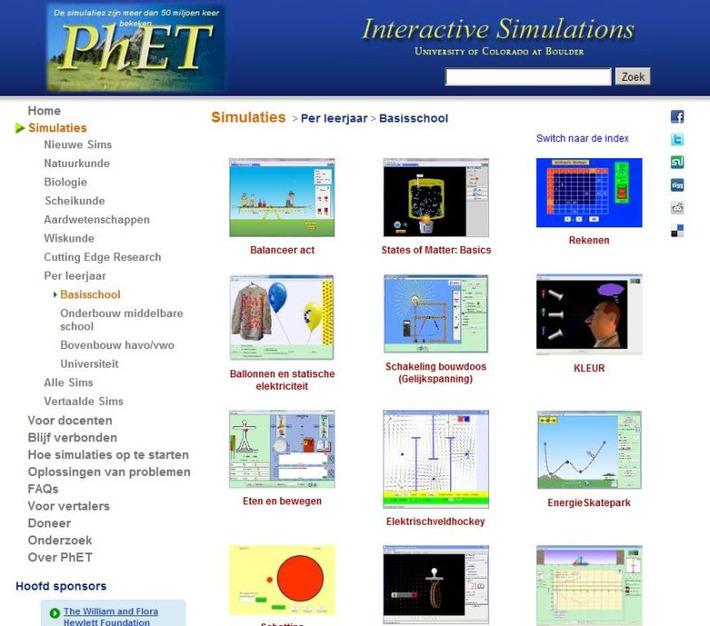 PhET Interactieve Simulaties voor het basisonderwijs   Edu-Curator   Scoop.it