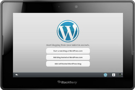 WordPress Now Available For the BlackBerry PlayBook | Event Social Media & Technology | Scoop.it