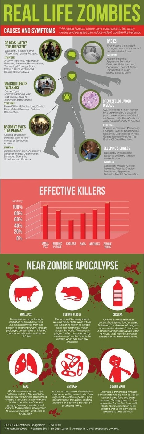 Visualistan: Real Life Zombies [Infographic] | Latest Infographics | Scoop.it