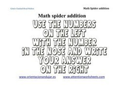 Math is Fun: Math spiders for Addition | Attention Work Sheets | Materiales interesantes en ingles | Scoop.it