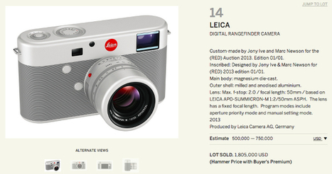 One-of-a-Kind Jony Ive (RED) Leica M Sells for a Whopping $1.8M at Charity Auction | Leica | Scoop.it