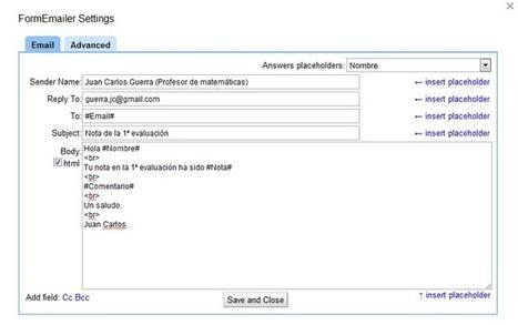 El blog de @Juancarikt: Google Apps Script (II) : Envío de emails desde hoja de cálculo | GOOGLE: Eines, apps... | Scoop.it