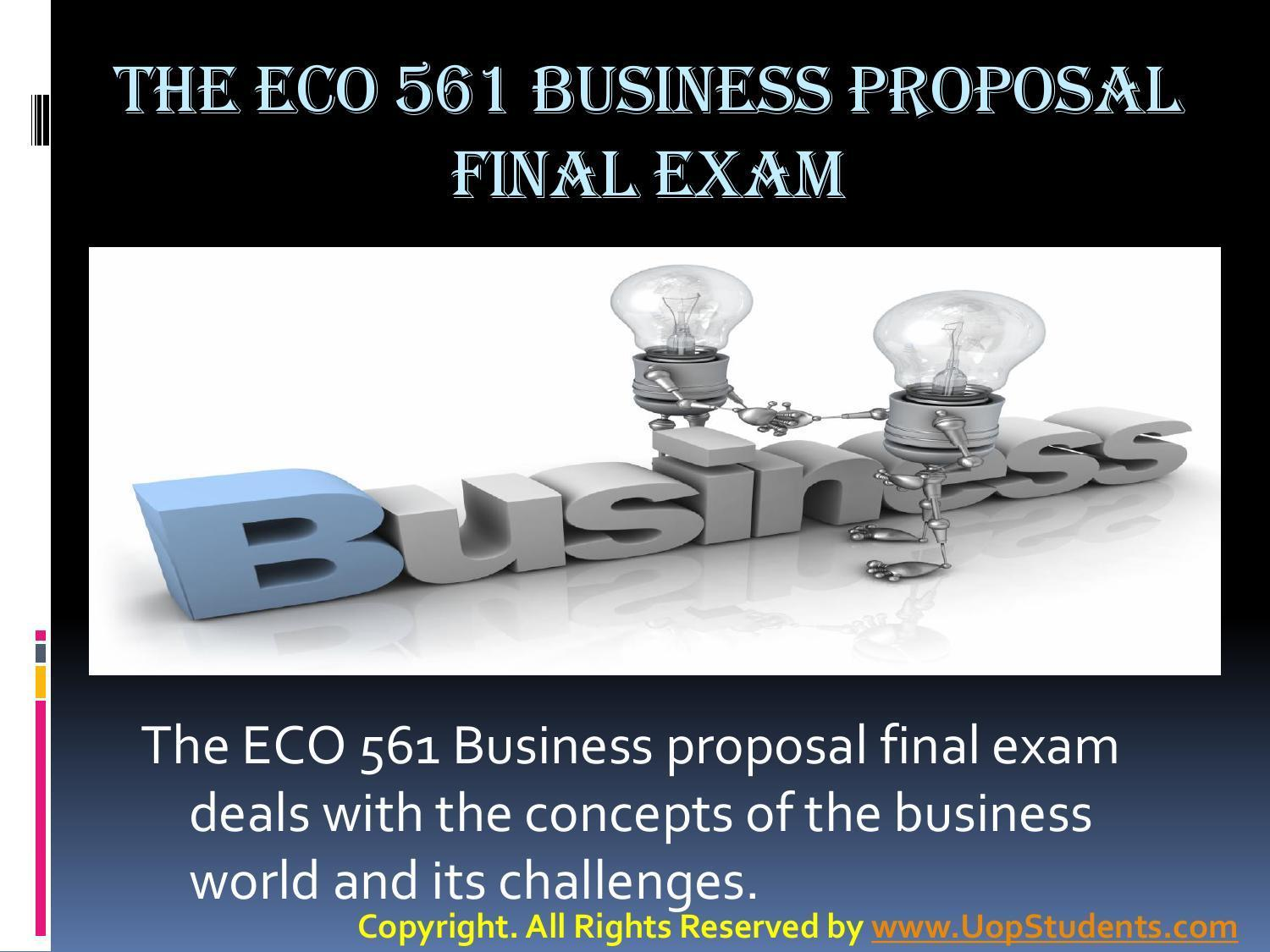 eco 561 week 6 business proposal