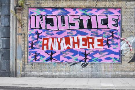 olek: knitted anti-slavery graffiti in london | Yarn Bombing | Scoop.it