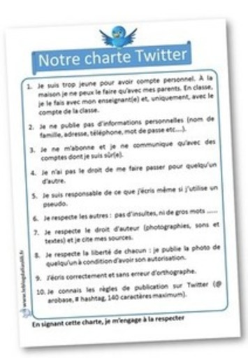 Charte Twitter | TIC et TICE mais... en français | Scoop.it