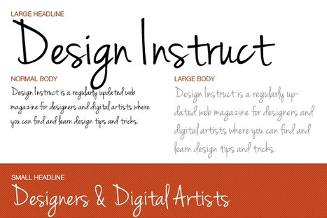 Font Collection: 10 Free Handwriting Fonts | Free software | Scoop.it