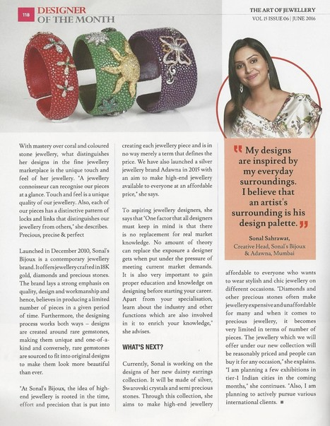 Journey of Jewellery Making with Sonal Sahrawat - The Art of Jewellery - Silver Bangles & Bracelets Online for Women in India | Sonals Jewellery | Scoop.it