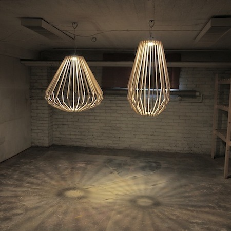 Suspension et table par my woodlabo l 39 etablis - Fabriquer un luminaire suspension ...