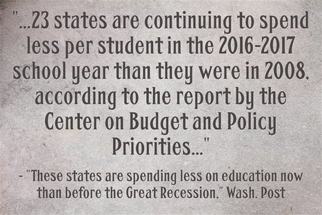 Statistic Of The Day: Many States Spending Less On Schools Now Than Before Recession | digital divide information | Scoop.it