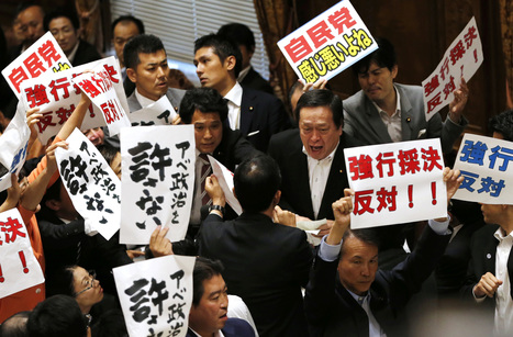 Protests erupt in Japan as committee in parliament approves security bills | Daily News Reads | Scoop.it