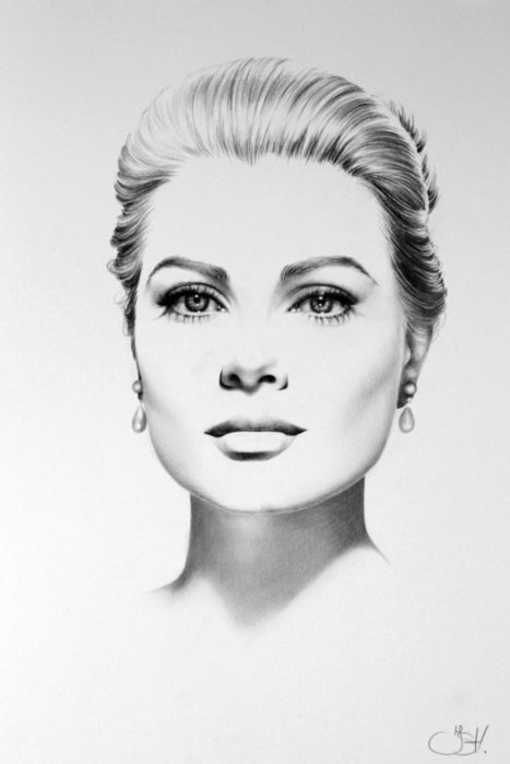 25 Extraordinary Sketched Minimal Portraits Of Celebrities | EntertainmentMesh | Scoop.it
