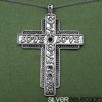 9.70 Grams Black Oxidized Cross Shape Love Text Pendant   Online Jewellery Shopping in India   Scoop.it