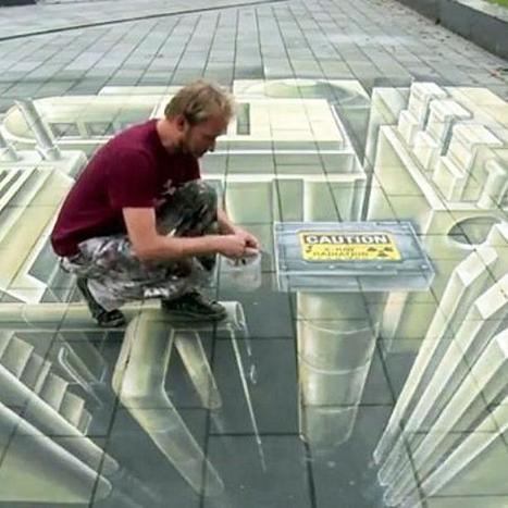 Augmented Reality Brings 3D Street Art to Life | the different types of Art | Scoop.it