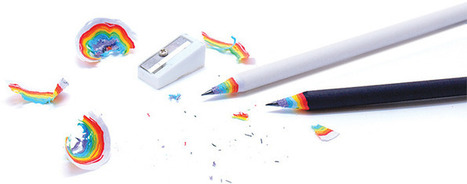 Rainbow Pencils Made of Recycled Paper | Now that's creative! | Scoop.it