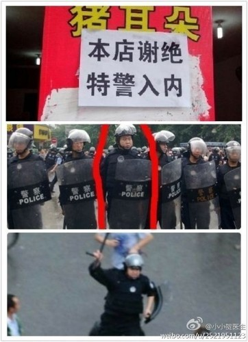 """Riot Police Face Wrath of China's Internet 