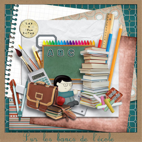 Freebie 'Sur les bancs de l'Ecole' | Digiscrap | Scoop.it