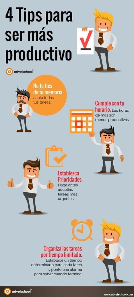 4 consejos para ser más productivo #infografia #infographic #rrhh | RRHH | Scoop.it