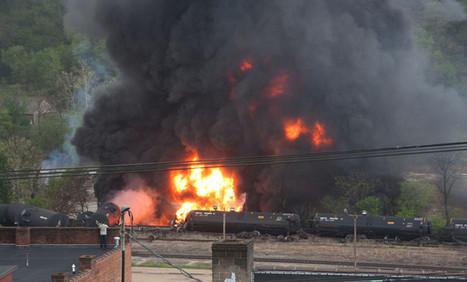 Oil tanker train derails in Lynchburg, Va., triggering fire and spill | Oil Spill Watch | Scoop.it