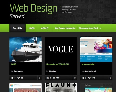 Looking For Inspiration? Curated Website Design Showcases Best Work | Design Revolution | Scoop.it