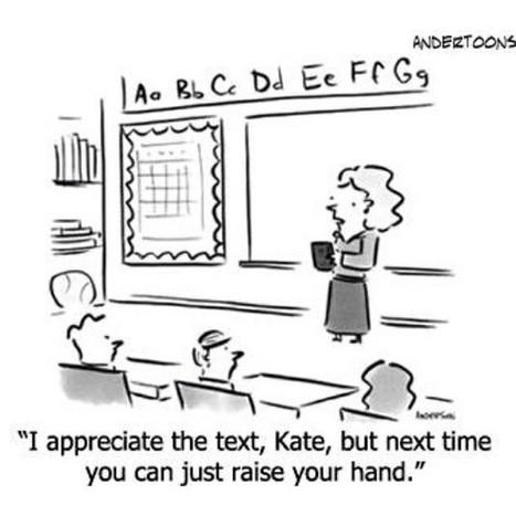 COMIC: Will Texting Replace Raising Your Hand In Class? | Edudemic | SchooL-i-Tecs 101 | Scoop.it