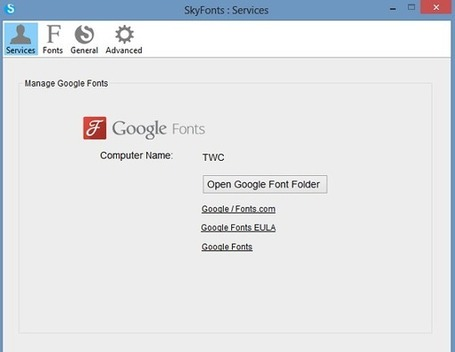 SkyFonts: Download & Install Google Fonts on to Windows PC | formation 2.0 | Scoop.it