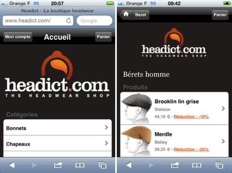 Bel exemple de boutique en ligne mobile chez Headict | QRiousCODE | Scoop.it