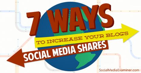 7 Ways to Increase Your Blog's Social Media Shares | | B2B et réseaux sociaux | Scoop.it