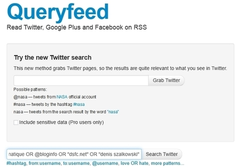 La recherche Twitter au format RSS | Informatique | Scoop.it