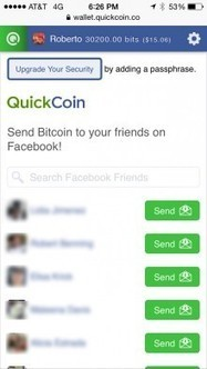 Send Bitcoins Easily to Your Facebook Friends with QuickCoin   Bitcoin and Virtual Currencies   Scoop.it