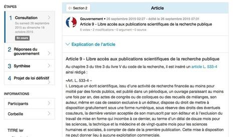 La loi sur le numérique et le libre accès (Blog Sciences communes) | Veille professionnelle des Bibliothèques-Médiathèques de Metz | Scoop.it