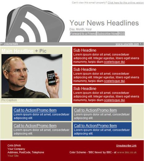50 templates html pour newsletters utile et gratuit | Maison Ou Bureau | Freeware et applications en lignes gratuites | Scoop.it