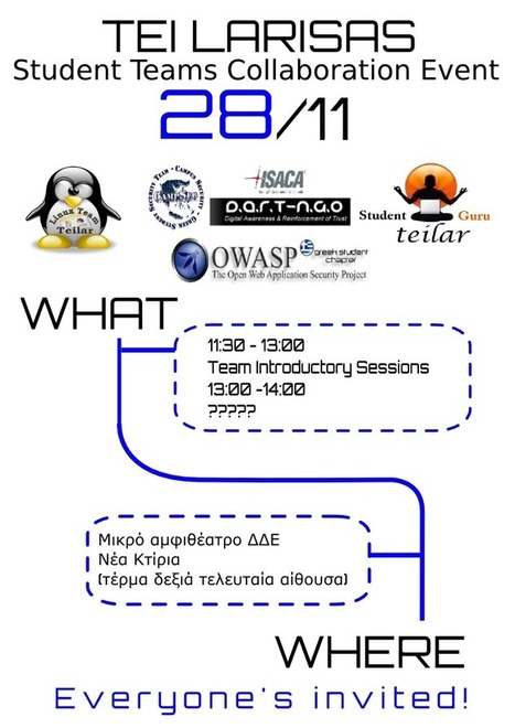 Student Teams Collaboration Event @ TEI LAR (new date!) | LinuxTeam | FOSS in Greece | Scoop.it