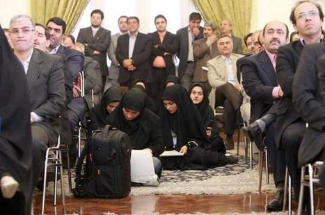 Female Journalists Sitting On Floor In Iran An Illustration Of Gender Inequality? - Huffington Post | Bra or Na: Seeing Eye to Eye | Scoop.it