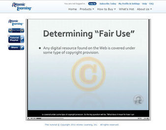 "Video Tutorial: Determining ""Fair Use"" for Web Resources 