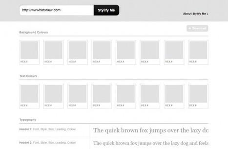 stylifyme, para obtener los detalles de diseño de cualquier sitio web | Diseño Web | Scoop.it