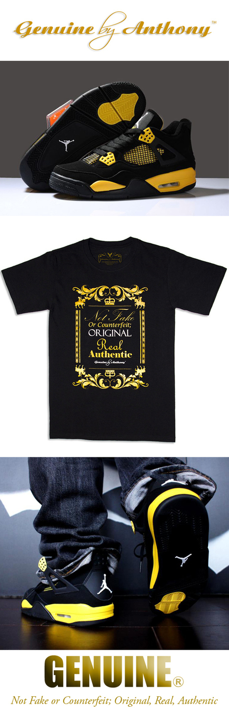 Genuine By Anthony Gold Slogan Tee | Genuine by Anthony | Fashion . Art . Music . Entertainment | Scoop.it