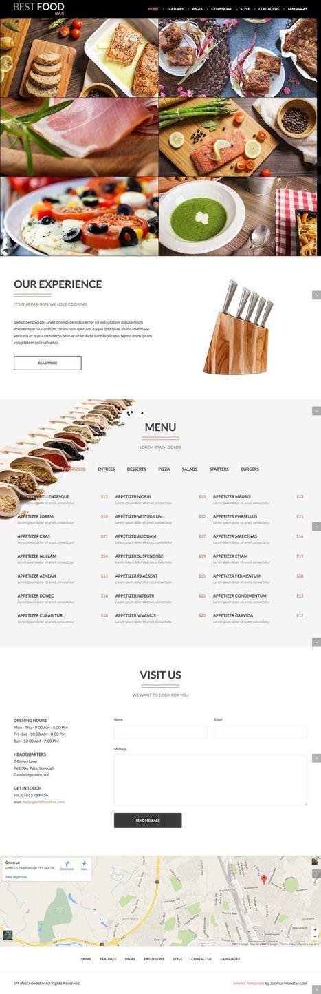 JM Best Food Bar Joomla Restaurant & Catering Service Template | Premium Joomla Templates | Scoop.it