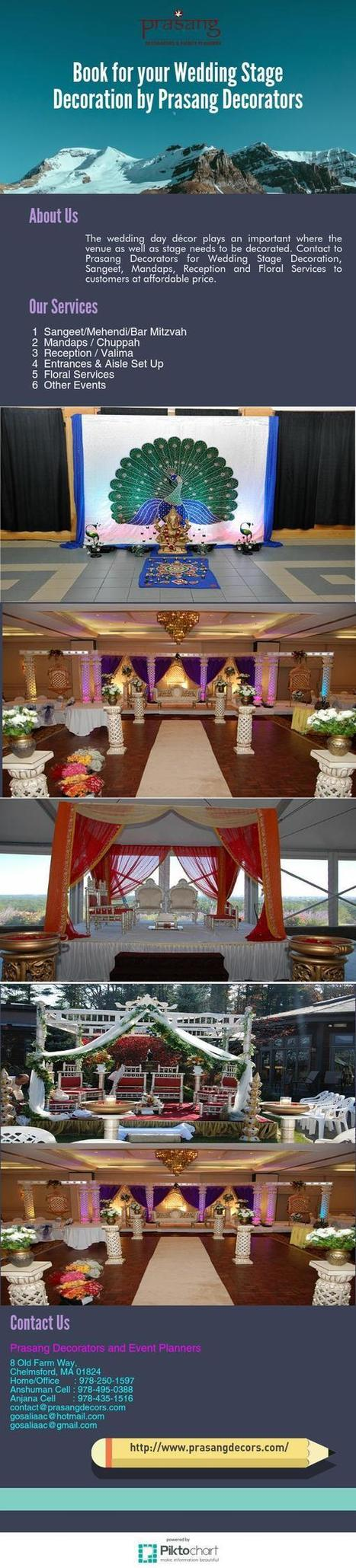 Book for your Wedding Stage Decoration By Prasang Decorators | Business | Scoop.it